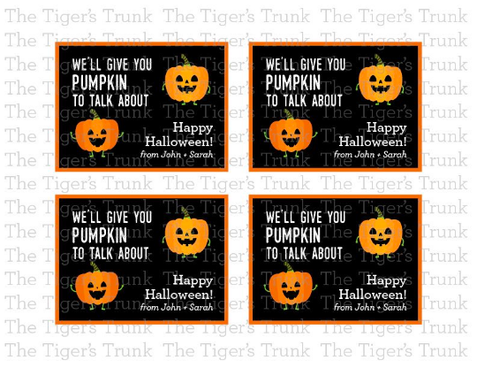 We'll Give You Pumpkin To Talk About, Happy Halloween cards with customization (digital file)