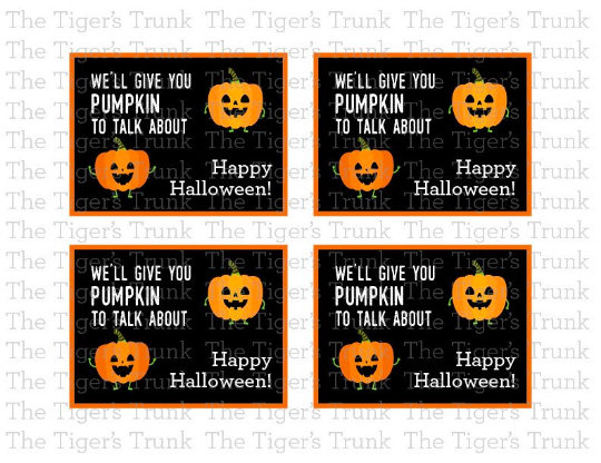 We'll Give You Pumpkin To Talk About, Happy Halloween cards (instant download)