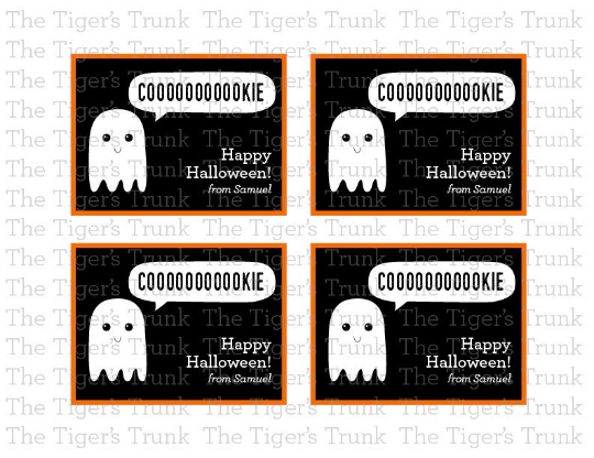 Coooookie Happy Halloween cards with customization (digital file)