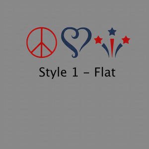 Peace Love and The USA (DIY Heat Transfer Vinyl)