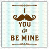 Mustache Printable Valentine Tags