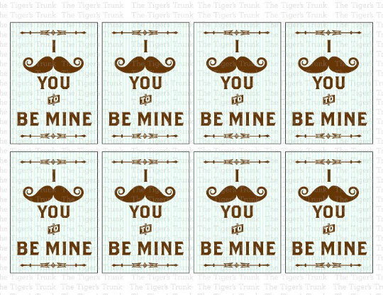 I Mustache You to Be My Valentine Cards (digital file)