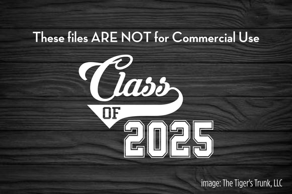 Class of 2025 cutting file package (SVG, DXF, JPG, GSP, PDF, PNG)