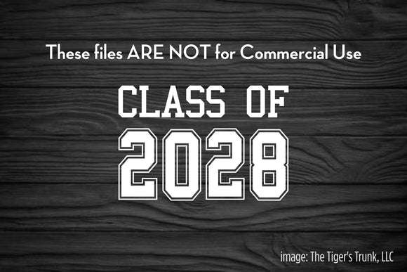 Class of 2028 cutting file package (SVG, DXF, JPG, GSP, PDF, PNG)