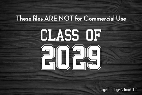 Class of 2029 cutting file package (SVG, DXF, JPG, GSP, PDF, PNG)
