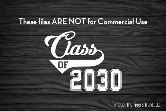 Class of 2030 cutting file package (SVG, DXF, JPG, GSP, PDF, PNG)