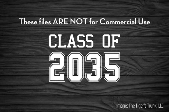 Class of 2035 cutting file package (SVG, DXF, JPG, GSP, PDF, PNG)