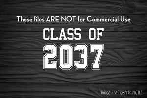 Class of 2037 cutting file package (SVG, DXF, JPG, GSP, PDF, PNG)