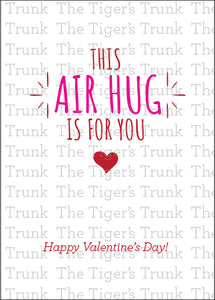 Covid Printable Valentine's Day Card, This Air Hug is for You