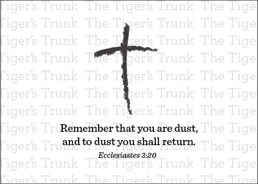 Ash Wednesday printable card