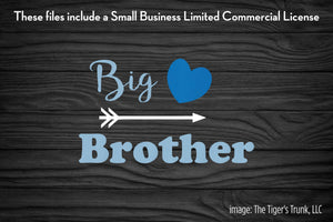 Big Brother cutting file package (SVG, DXF, JPG, GSP, PDF, PNG)