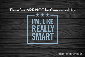 I'm Like Really Smart cutting file package (SVG, DXF, JPG, GSP, PDF, PNG)