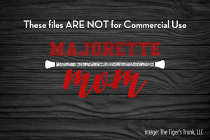 Majorette Mom cutting file package (SVG, DXF, JPG, GSP, PDF, PNG)