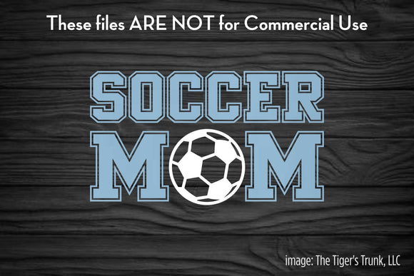Soccer Mom cutting file package (SVG, DXF, JPG, GSP, PDF, PNG)