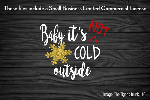 Baby It's Not Cold Outside cutting file package (SVG, DXF, JPG, GSP, PDF, PNG)