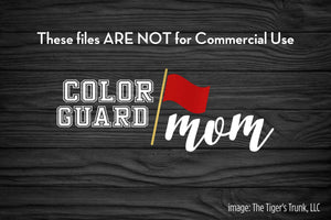 Color Guard Mom cutting file package (SVG, DXF, JPG, GSP, PDF, PNG)