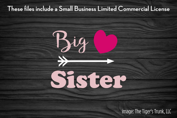 Big Sister cutting file package (SVG, DXF, JPG, GSP, PDF, PNG)