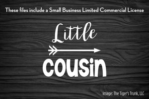 Little Cousin cutting file package (SVG, DXF, JPG, GSP, PDF, PNG)