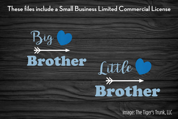 Big Brother and Little Brother cutting file packages (SVG, DXF, JPG, GSP, PDF, PNG)