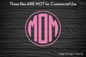 Mom-o-Gram cutting file package (SVG, DXF, JPG, GSP, PDF, PNG)