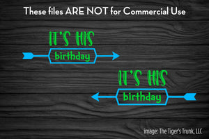 It's His Birthday Twins cutting file package (SVG, DXF, JPG, GSP, PDF, PNG)