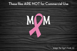 Breast Cancer Mom cutting file package (SVG, DXF, JPG, GSP, PDF, PNG)