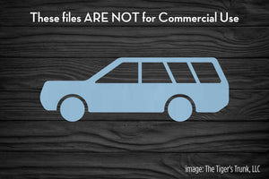 Station Wagon cutting file package (SVG, DXF, JPG, GSP, PDF, PNG)