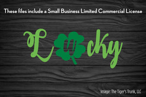 Lucky St. Patrick's Day cutting file package (SVG, DXF, JPG, GSP, PDF, PNG)