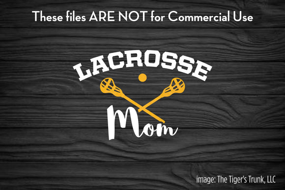 Lacrosse Mom cutting file package (SVG, DXF, JPG, GSP, PDF, PNG)