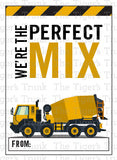 Construction Vehicles Printable Valentine Cards