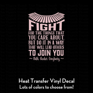 Fight for the Things You Care About Decal (DIY Heat Transfer Vinyl)