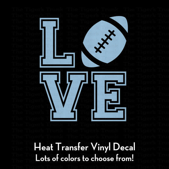 Love Football Decal (DIY Heat Transfer Vinyl)