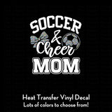 Soccer and Cheer Mom Decal (DIY Heat Transfer Vinyl)
