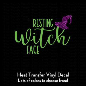 Resting Witch Face Decal (DIY Heat Transfer Vinyl)