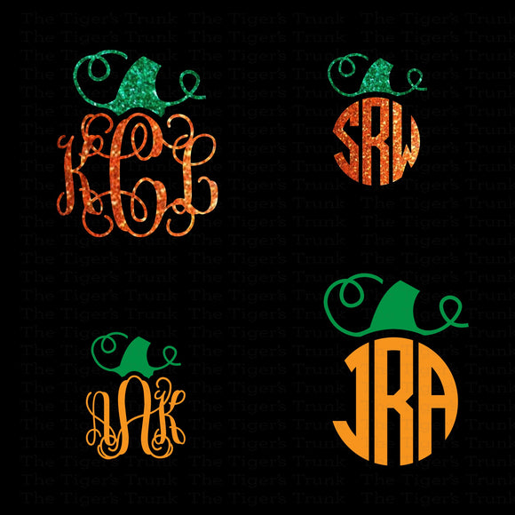 Monogrammed Pumpkin Decal (DIY Heat Transfer Vinyl)