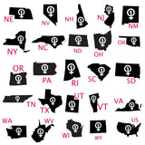 Women's Rights Pick Your State tee