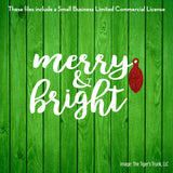 Merry & Bright cutting file package (SVG, DXF, JPG, GSP, PDF, PNG)