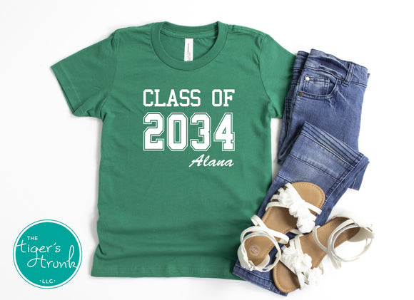 Leeds Grow with Me: Personalized Graduation Year tee