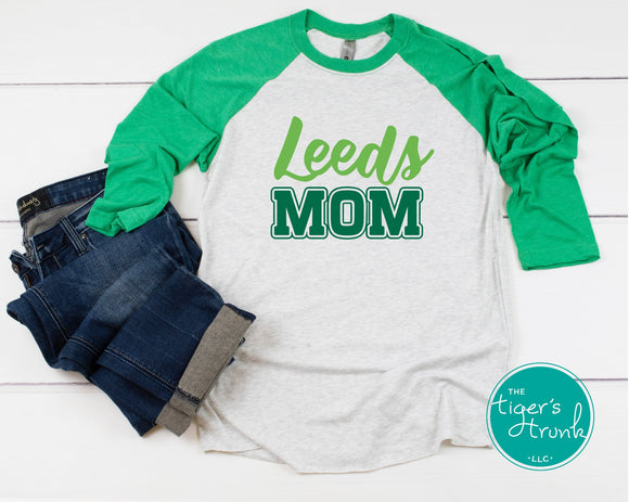Leeds Mom raglan shirt