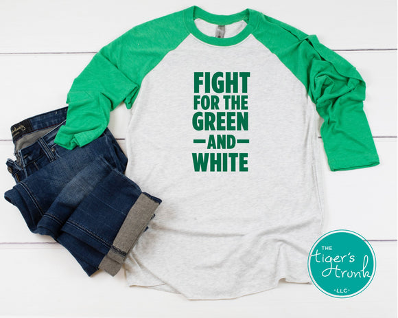 Fight for the Green and White Leeds raglan shirt