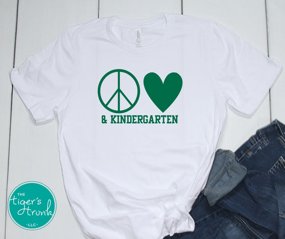 Leeds Peace and Love Teacher tee