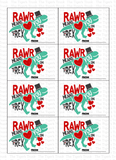 Rawr Means I Love You Dinosaur Printable Valentine Cards
