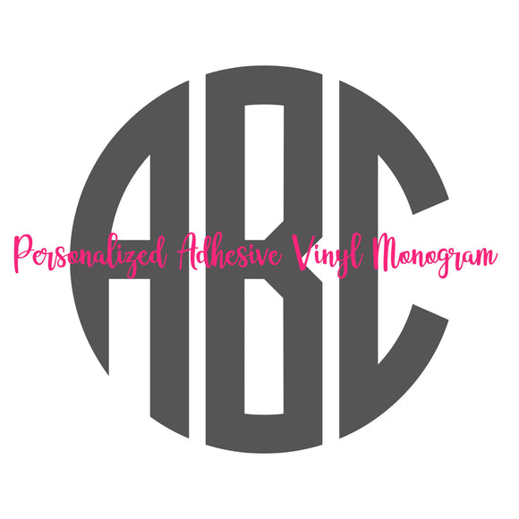 Monogram Adhesive Vinyl Decal