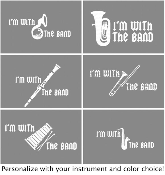 I'm With the Band Decal (DIY Heat Transfer Vinyl)
