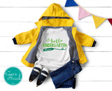 Leeds Personalized Hello Kindergarten tee