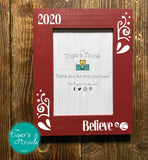 Believe Christas photo frame - berry