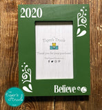 Believe Christas photo frame - green