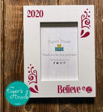 Believe Christas photo frame - white