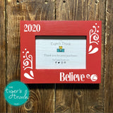 Believe Christas photo frame - red
