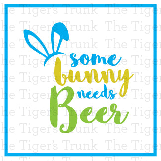 Some Bunny Needs Beer Easter Beer Bottle Labels